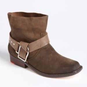 Joe's Jeans Saki Taupe Suede Belted Ankle Boots 6